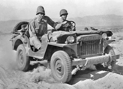 Willys Jeep at the Desert Trainging Center - Indio, CA, June 1942