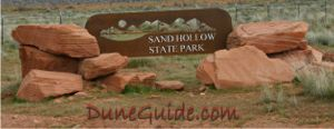 Sand Hollow State Park Entrance