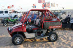 Polaris Ranger with nice roll cage and tilt wheel
